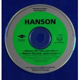 Hanson - Where's The Love - Cd Single - 1997 - Promocional