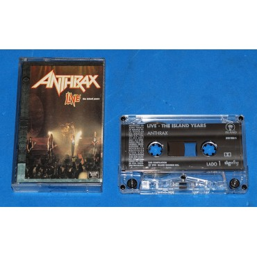 Anthrax ‎- Live The Island Years - Fita K7 - 1994 - Brasil