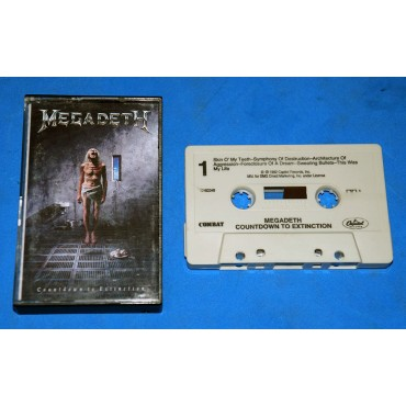 Megadeth - Countdown To Extinction - Fita K7 - 1992 - USA