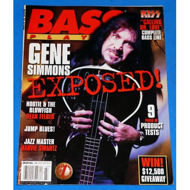 Kiss - Bass Player Vol. 7 nº 7 - Gene Simmons - Revista - USA - 1996