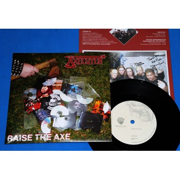 "Axecuter - Raise the Axe - 7"" Single - 2014 - Brasil - Venom - Numerado"