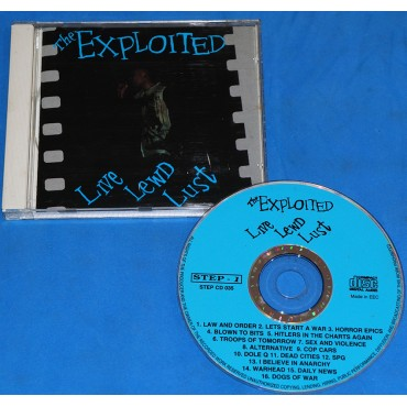 Exploited - Live Lewd Lust - Cd - 1994 - UK