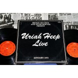 Uriah Heep - Live - Lp Duplo - 1973 - USA com Tourbook 10 paginas