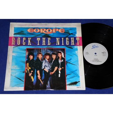 "Europe - Rock The Night - 12"" Single - 1986 - UK"