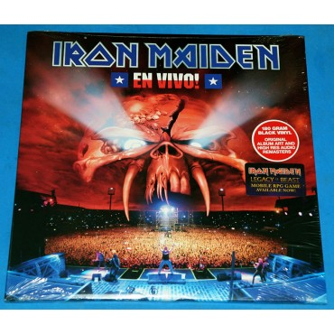 Iron Maiden - En Vivo! - 3 Lp's - 2017 - USA - Lacrado