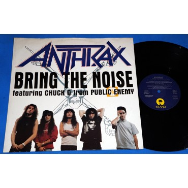 "Anthrax - Bring The Noise - 12"" EP - 1991 - UK - Public Enemy"