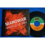 "Manowar ‎- Wheels Of Fire - 7"" Single Compacto Promo 1988 Espanha"