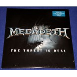 "Megadeth ‎- The Threat Is Real - 12"" EP Branco - 2015 - USA - Lacrado"