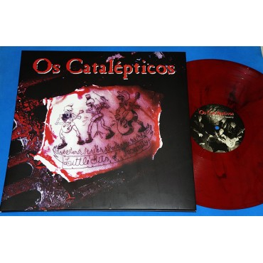 Os Catalepticos - Little Bits of Insanity - Lp Vermelho Rajado - 2017 - Neves Records