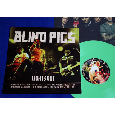 "Blind Pigs - Lights Out - 10"" Verde 2020"