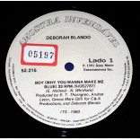 "Deborah Blando - Boy - 12"" Single Promocional - 1991"