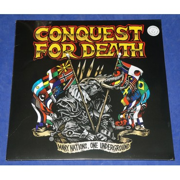 Conquest For Death - Many Nations, One Underground - Lp Laranja - 2013 - USA - Lacrado