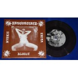"Regurgitate / Realized - Scream Bloody Whore / Try To Realize - 7"" Marrom - 2001 - Alemanha"