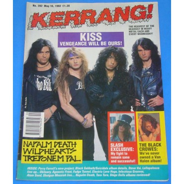Kiss - Kerrang! - 392 - 1992 - UK