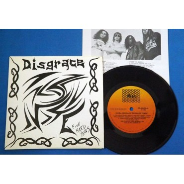 "Disgrace - Five Hard Years - 7"" Single - 1993 - Brasil - Thrash Metal - Backstroke"